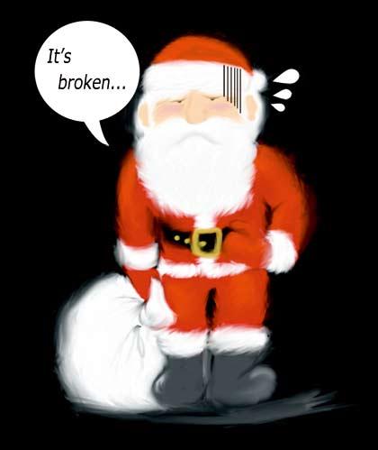 "santa disaponted ""It's broken"""